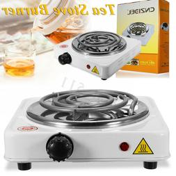 110V 1000W Portable Electric Stove Burner White Hot Plate He