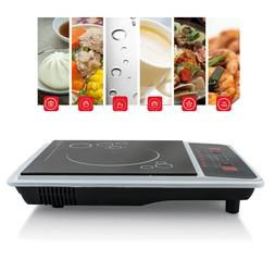 1300W Portable Induction Cooktop Countertop Single Cooker Bu