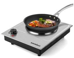 CUSIMAX 1500W Electric Hot Plate, Hot Plate for Cooking Elec