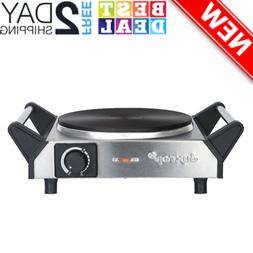 1500W Portable Electric Cast Iron Cooktop Countertop Burner