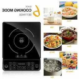 1800W Burner Electric Cooktop Induction Cooker Portable Touc