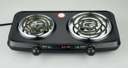 1800W Mainstays Double Burner Hot Plate  HP202-U21 120V --