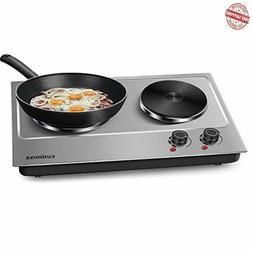 Cusimax 1800W Double Hot Plate Countertop Burner Portable El
