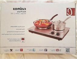 Cusimax 1800W Double Hot Plate , Stainless Countertop Burner