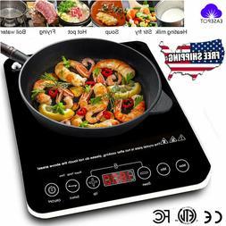 1800W Electric Single Induction Cooker Portable Burner Cookt