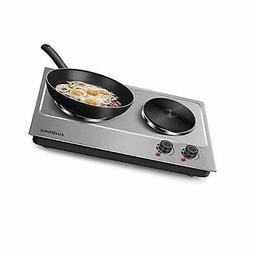 Cusimax 1800W Hot Plate for Cooking Electric - Double Electr