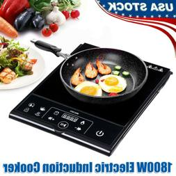 1800W Portable Electric Single Induction Cooktop Burner Cook