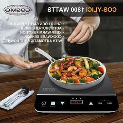 1800W Portable Induction Cooktop Countertop Single Cooker Bu