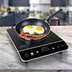 1800W Portable Induction Cooktop Countertop Single Cooker Bu