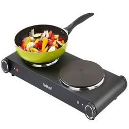 Vonshef 1800w Stainless Steel Electric Double Hot Plate Tabl