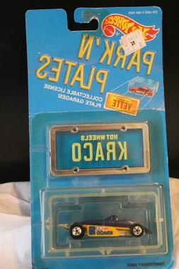 HOT WHEELS 1988 PARK'N PLATES 1:64 BLUE INDY CAR KRACO THUND