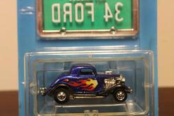 Hot Wheels 1988 Park'N Plates Blue 3 Window '34 Ford
