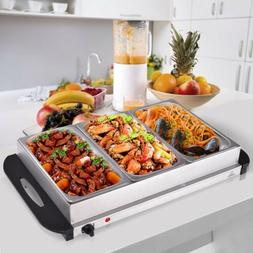 stainless steel 3 pan large buffet food