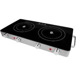 2 Electric Burner Infrared Double Stove Countertop Portable