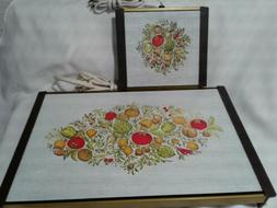 2 Jasco Hot Plates Spice of Life Vintage Food Warming Hot Tr