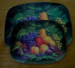 2 Pieces Fruit Grapes Apple Hot Plates Hot Pads Trivet Green