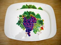 2 Pieces Tuscany Grape Hot Plates Hot Pads Trivet Tan Dark A