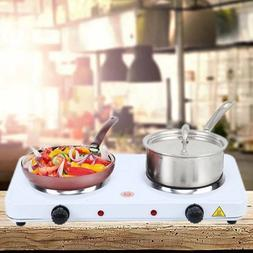 2000w Electric Double Burner Hot Plate Heating Cooking Stove