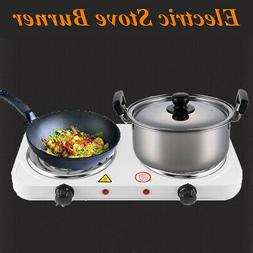 2000W Electric Double Burner Hot Plate Kitchen Camping Porta