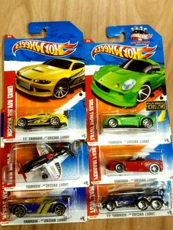 HOT WHEELS 2011 THRILL RACERS COMPLETE SET OF 6  WITH LICENS