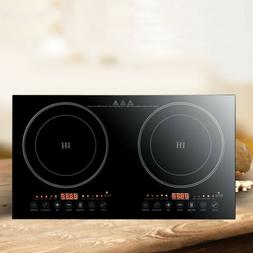 2400W Electric Dual Induction Cooker Portable Burner Cooktop