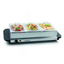 3 buffet warmer server professional hot plate