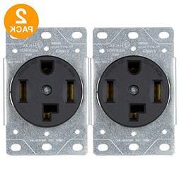 ENERLITES 2 Pack 30A Dryer Receptacle Outlet, 14-30R | 66300