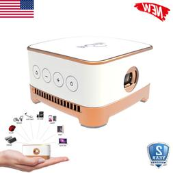 Portable Mini Projector WiFi Android 7.1 BT DLP LED 1080P Ho