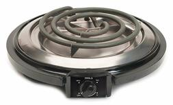 750 Watt Single Burner Electric Hot Plate Black Small Kitche