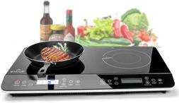 Duxtop 9620LS LCD Portable Double Induction Cooktop 1800W Di