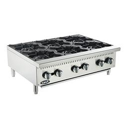 Atosa USA ATHP-36-6 Heavy Duty Stainless Steel 36-Inch Six B