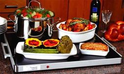 """Deluxe Glass Buffet Warming Tray Full size 24"""" x 20 """" by Cla"""