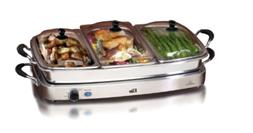 Elite Platinum EWM-9933 Deluxe Triple Server Food Party Sili