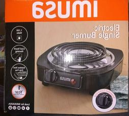 IMUSA USA GAU-80305 Electric Single Burner 1100-Watts, Black