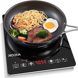 aicok portable induction cooktop countertop