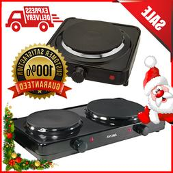 Aroma Hot Plate Double Or Single Burner Electric Stove Top C