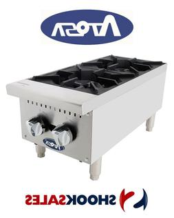 Atosa ATHP-12-2 Commercial Restaurant HD 12″ Two Burner Ho