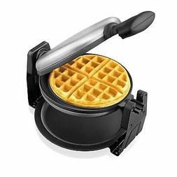 Belgian Waffle Maker Aicok, Stainless Steel Rotatable Waffle