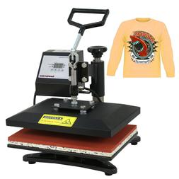 black clamshell heat press transfer