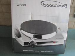 Brentwood TS-337 Electric Single Hotplate Chrome