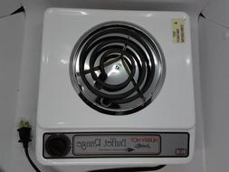 BroilKing BR5H Single Buffet Range Burner White Electric Hud
