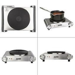 Hot Plate Single Burner Electric Ceramic SilverStainless Aut