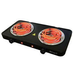 Burner Electric Stove Portable Cooktop Buffet Range Dual Coi