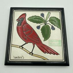 cardinal handpainted wall decor kitchen dining trivet