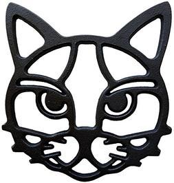 Cat Trivet - Black Cast Iron for Hot Dishes & Pots on Kitche