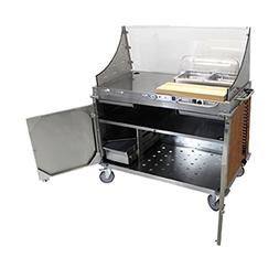 Cadco CBC-DC-L1-D Large Mobile Demo/Sampling Cart Full Size
