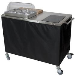 Cadco - CBC-PHR - Chef Cart, Mobile, w/Range and Warmer