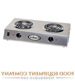 Cadco CDR-1T Countertop Double 120-Volt Hot Plate by Cadco