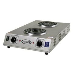 Cadco CDR-1TFB Front-to-Back Two Burner Electric Portable Ho