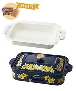 BRUNO Compact Electric Griddle Hot plate Ceramic Pan Lemon F